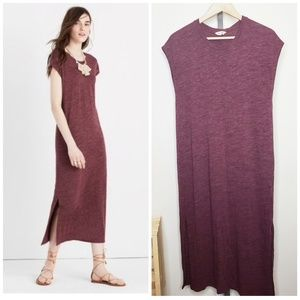 Madewell Midi Column Dress Heathered Berry